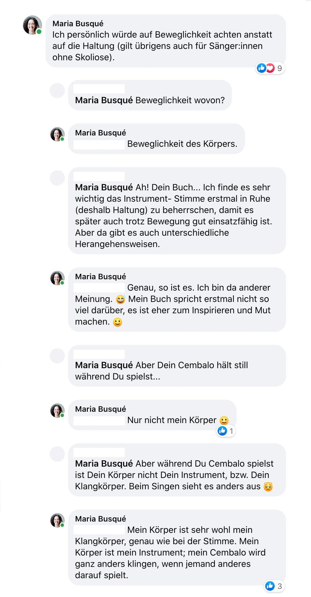Screenshot einer Unterhaltung auf einem Sozialen Netzwerk